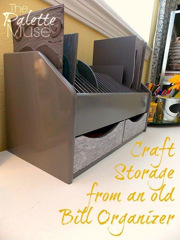 Craft Storage from Bill Organizer