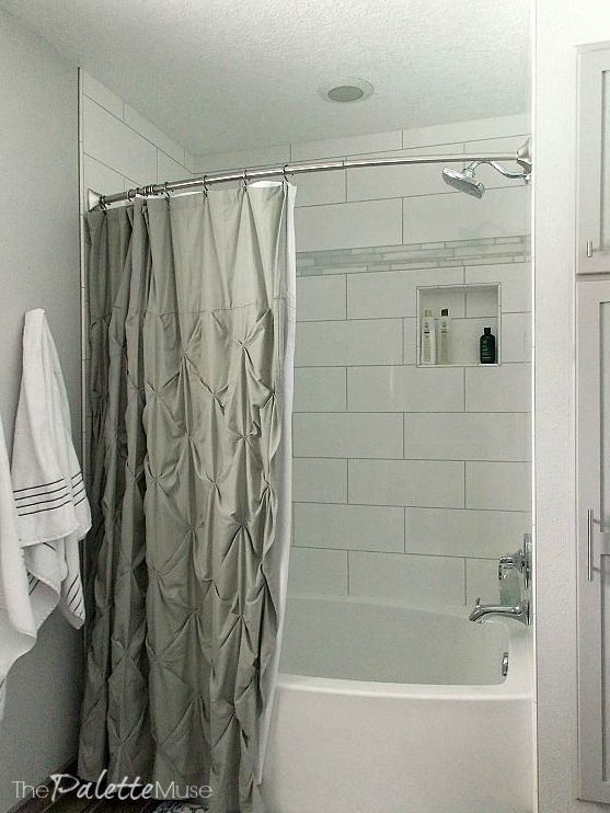 Love the oversized subway tile!
