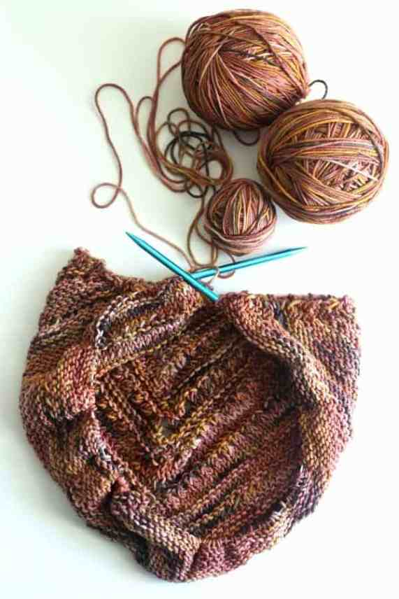 Circular needles keep large projects safely corralled on your knitting needles