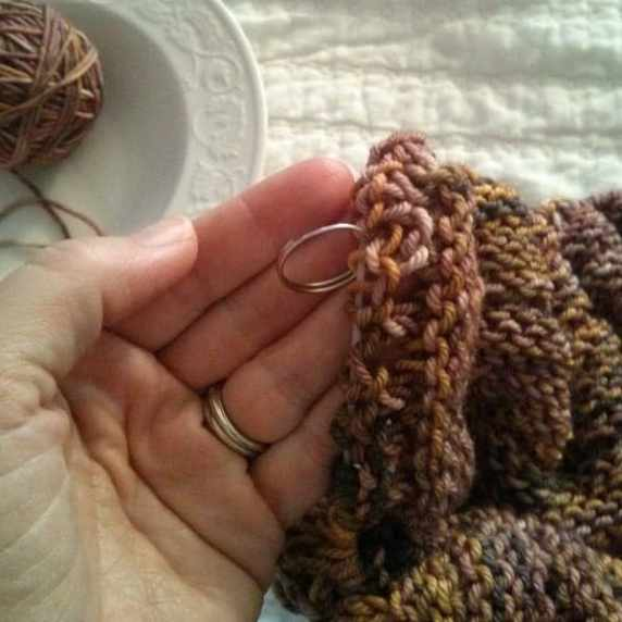 Use a stitch marker so you don't have to count each stitch.