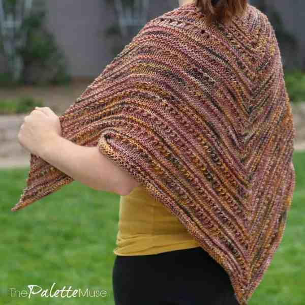You can knit your own fall shawl with this startup kit from Skeino