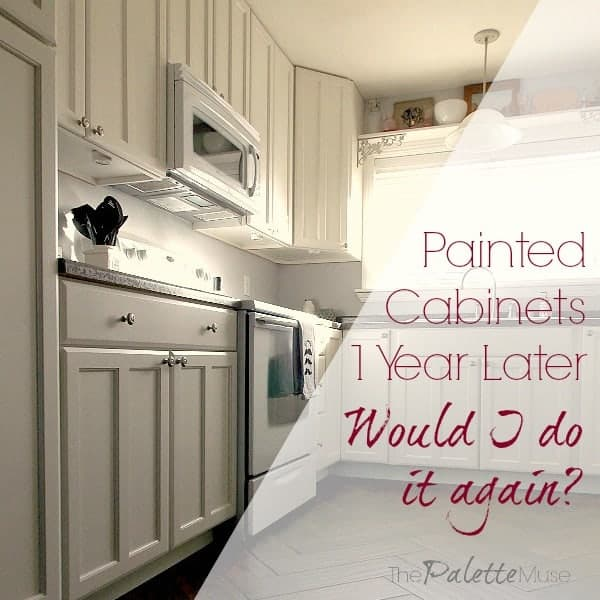painted kitchen cabinets one year later