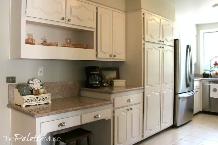 Finished Painted White Kitchen Cabinets 3