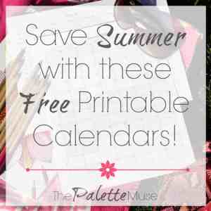 Save Summer with this Free Printable Calendar
