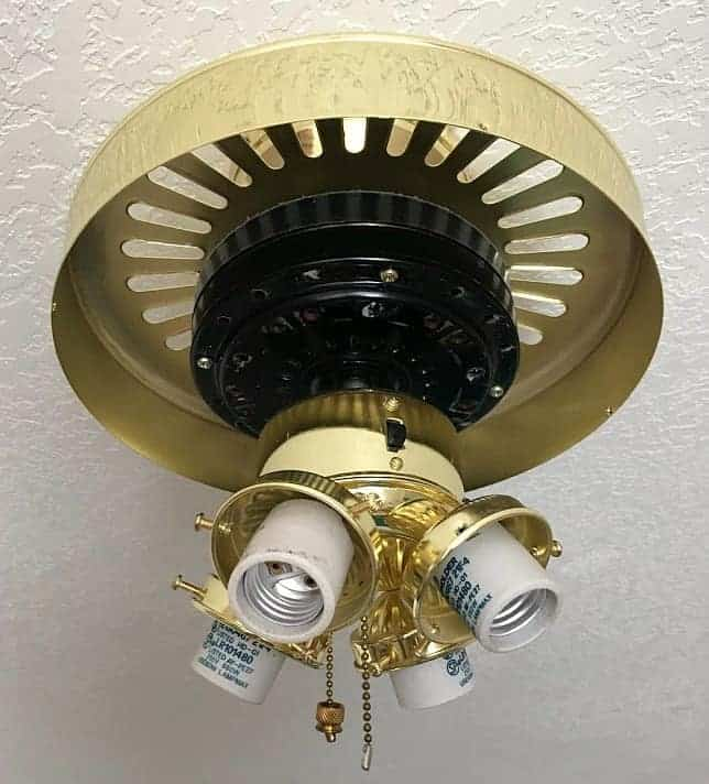 This is what a naked ceiling fan looks like!