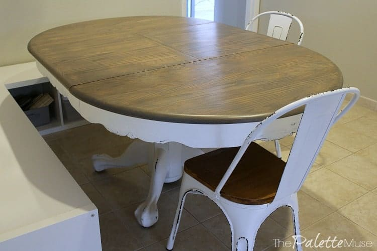 This farmhouse table is on its third life but it looks brand new!