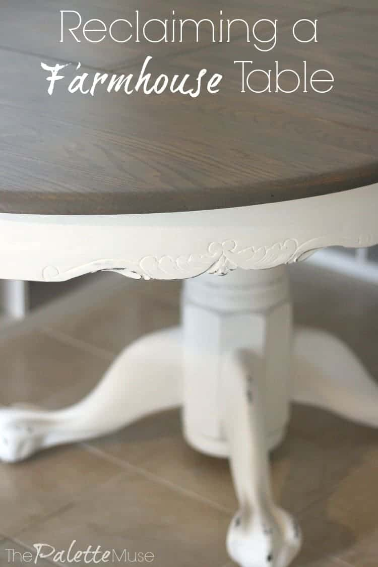 This week I'm refinishing my farmhouse table for the $100 Room Challenge