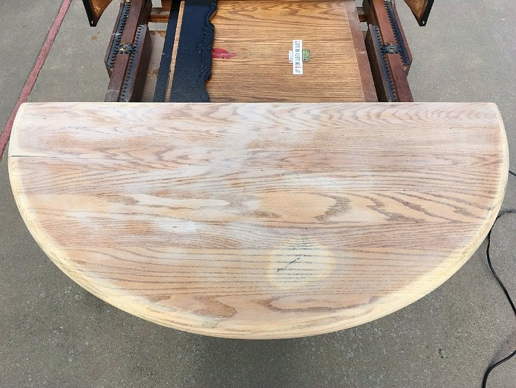 Farmhouse table restoration in progress