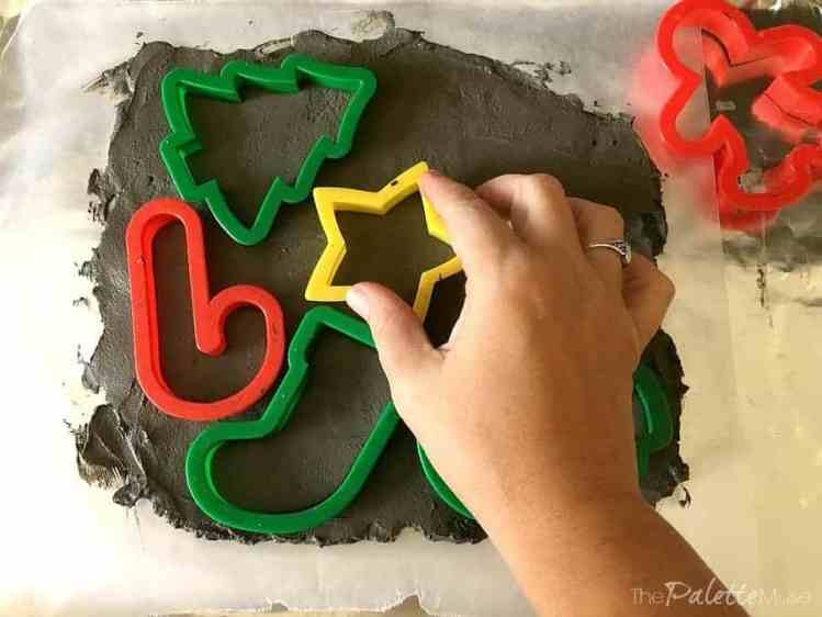 Using cookie cutters to make concrete ornaments