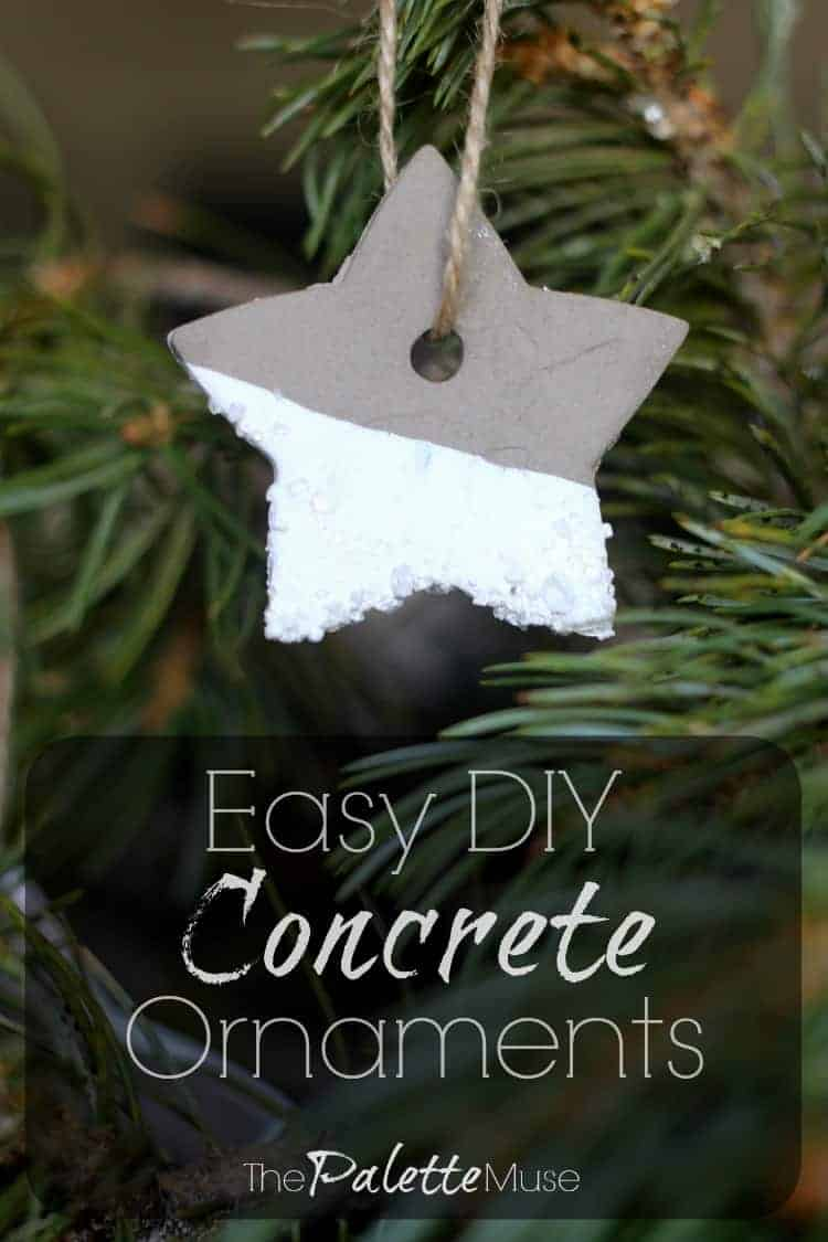 Easy DIY Concrete Christmas Ornaments