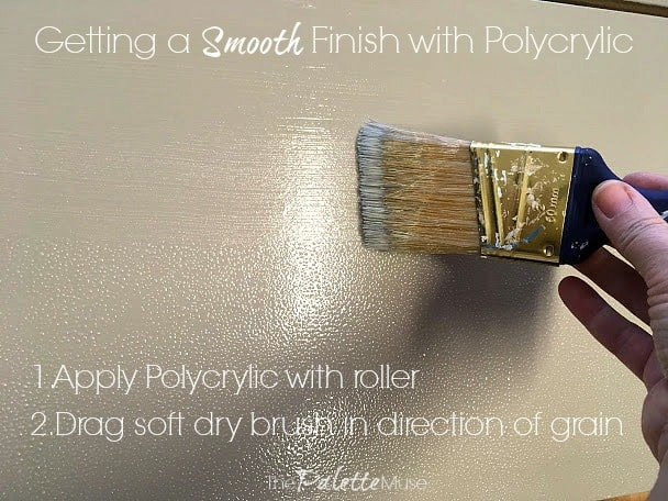 Getting a clean finish with Polycrylic