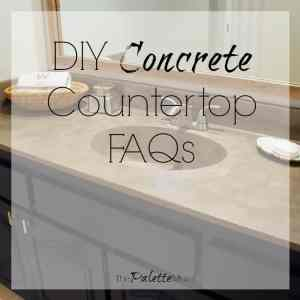 DIY Concrete Countertops Frequently Asked Questions