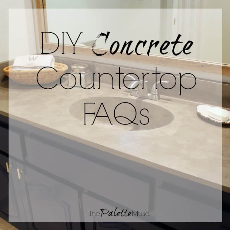 All the Frequently Asked Questions about my DIY Concrete Countertops