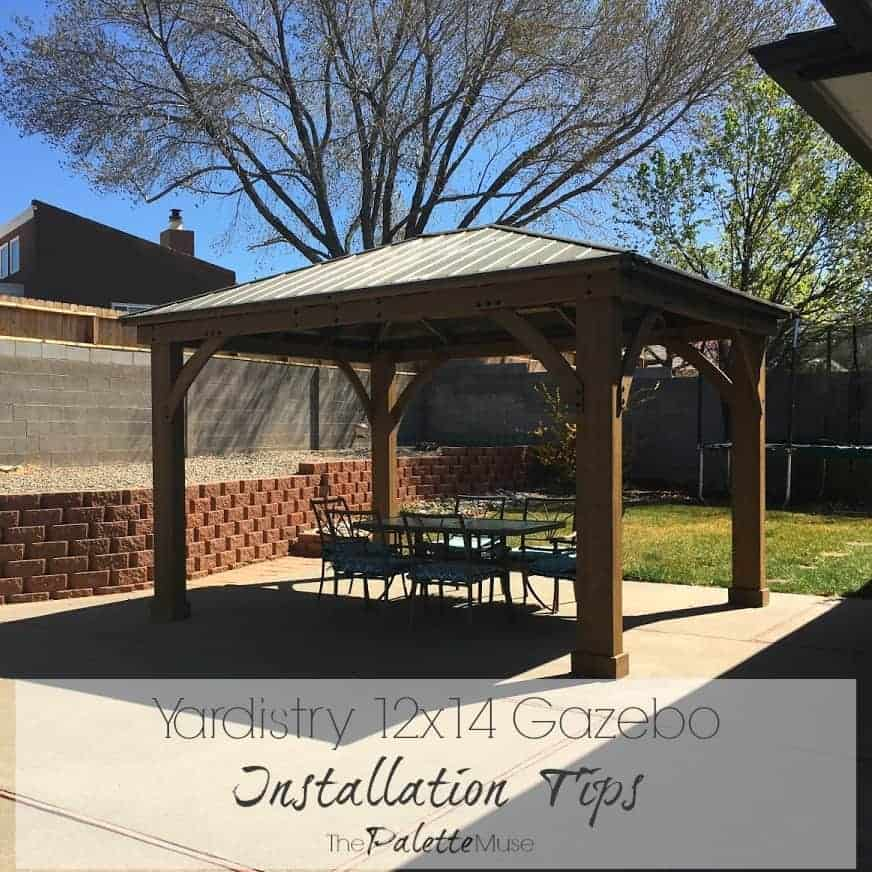 Vertical Garden Design With Gazebo Installation Yardistry 12×14 Gazebo Installation Tips