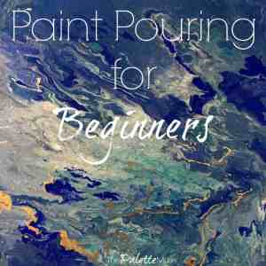 Creating Paint Pouring Art for the $100 Room Challenge