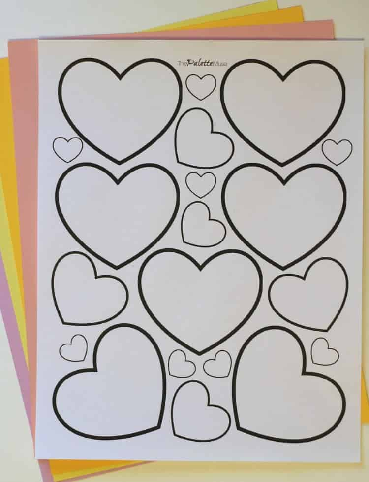 Free Heart Printable! #freeprintable #valentinesday #papercraft