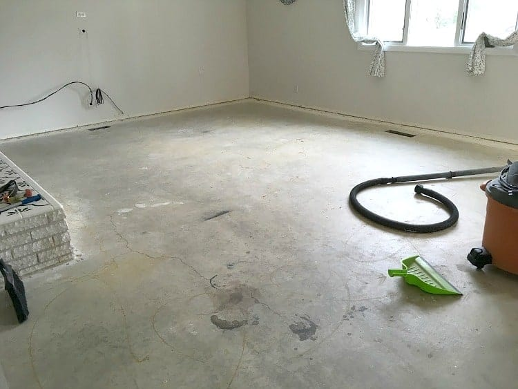 A good flooring project starts with a clean sub-floor