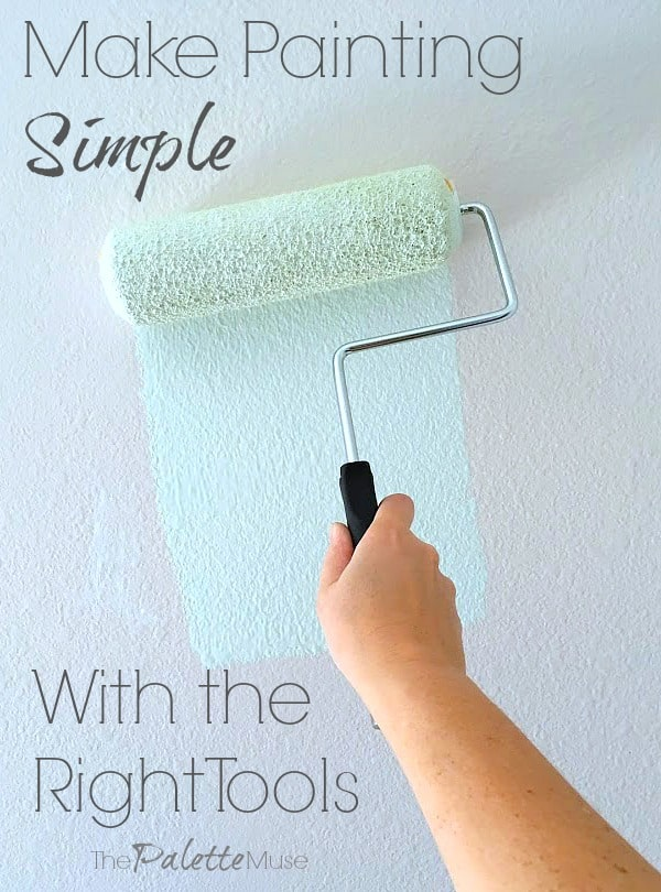 How to make painting simple with the right tools. #paintingtips #painting #DIYproject