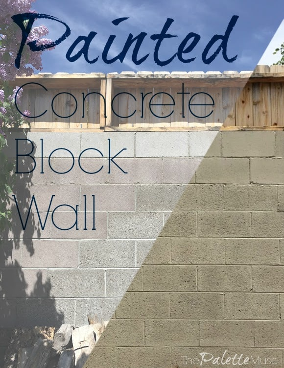 Give new life to your old concrete block wall with paint! #concrete #painting #homehacks