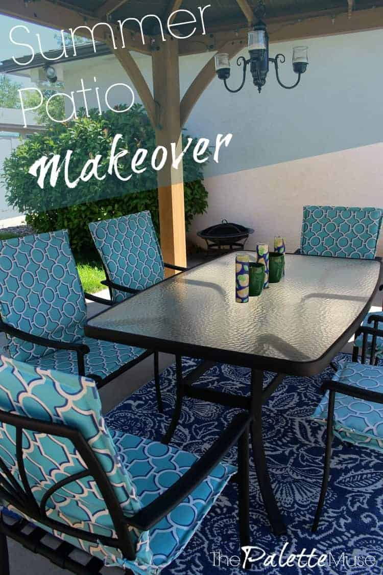 Steal these Summer Patio Makeover ideas to create your own backyard oasis! #patiomakeover #summer #thepalettemuse