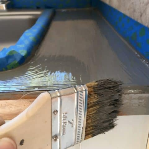 How to Update your Kitchen with Painted Countertops