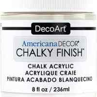 DecoArt Chalky Finish Paint: Everlasting White, 8 oz