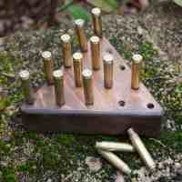 DIY Peg Game with Brass Casings