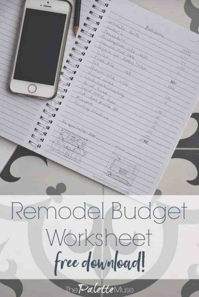 Remodel budget worksheet free download