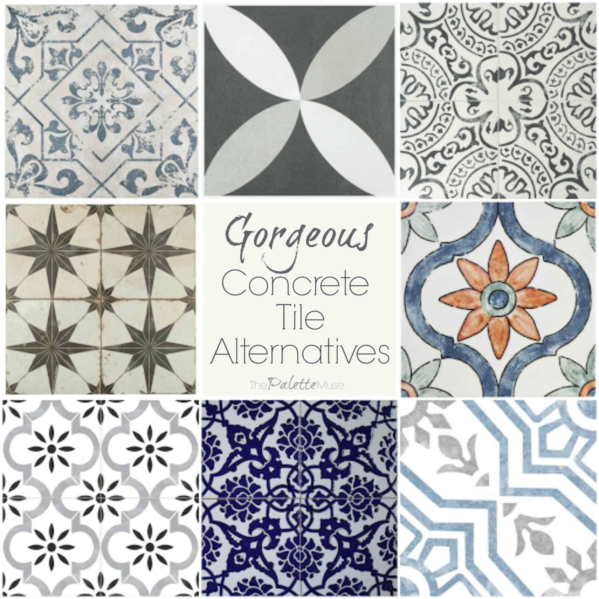 concrete tile look