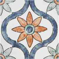 Loire 8 in. Multicolor Ceramic Tile