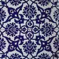 Turkish Iznik Carnation & Floral 8 in. Ceramic Tile