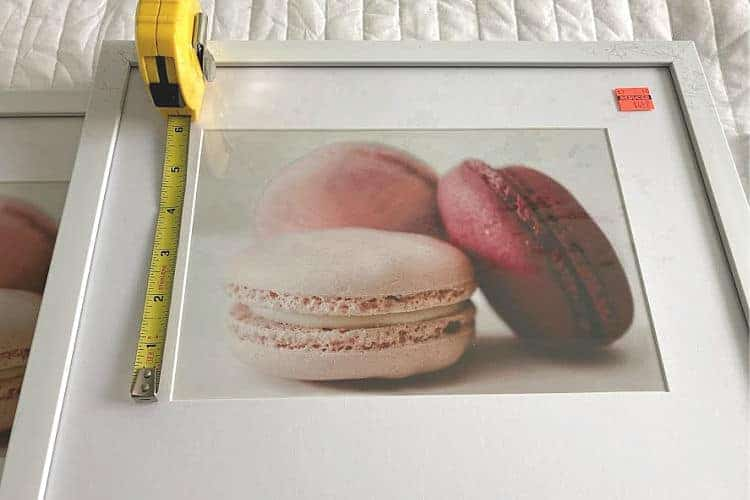 Measuring a framed print to replace with a photo