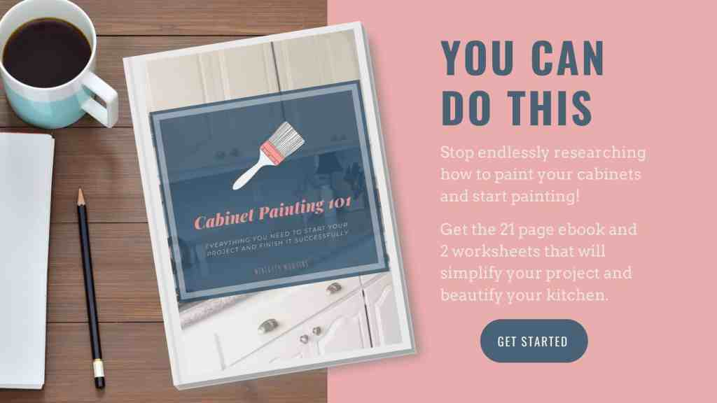 Everything you need to know about painting cabinets, all in one handy ebook. With 2 worksheets to help you get started!