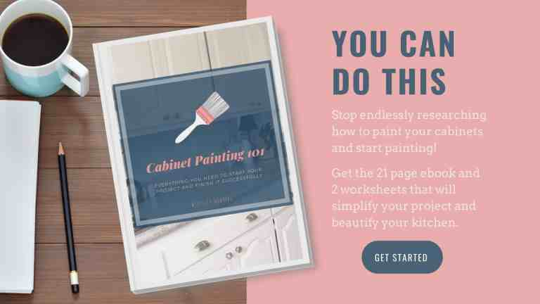 You can do this. Stop researching and start painting those cabinets! Link to purchase ebook.