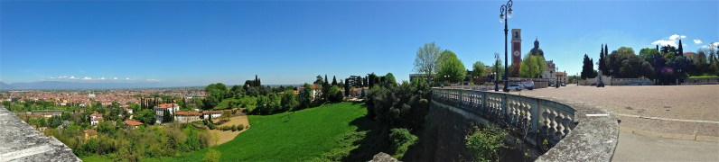 Panoramic view of Vicenza, Italy from Monte Berico overlook | ©Tom Palladio Images