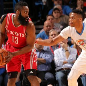 James Harden is having a better season than Russell Westbrook