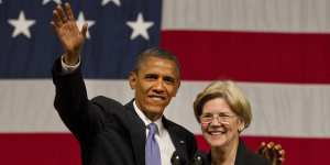 "Elizabeth Warren ""troubled"" by Obama's $400,000 payment from Wall Street"