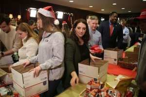 RNC Transforms HQ into 'Santa's Workshop' to Build Care Packages for Military