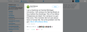 Central Michigan Freshman: 'campus is a gun free zone', 'monster did not care about laws or human life'