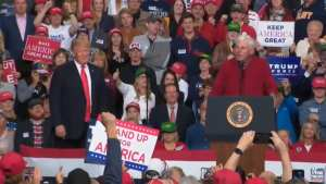 WATCH! Bobby Knight leads 'Go Get 'em Donald' chant at Trump rally