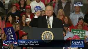 WATCH! Rush calls out Hillary for colluding with Russia, crowd chants 'Lock Her Up'