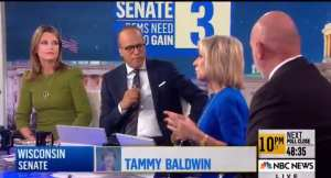 """NBC's Savannah Guthrie!""""Maybe it's a red wave on the Senate side at least."""""""