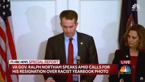 Northam says he wore blackface to imitate Michael Jackson in college