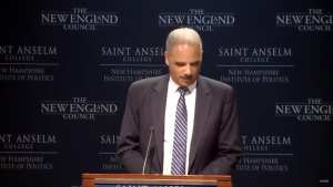 Eric Holder uses Northam scandal to push left-wing agenda