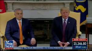 The Guardian! Trump and Orban were 'manspreading' in Oval Office