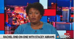 "ACTUAL VOGUE HEADLINE: ""Can Stacey Abrams save American democracy?"""