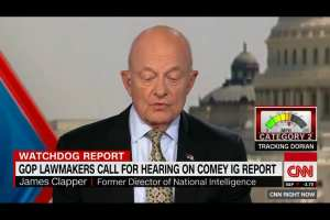 """Clapper calls Comey a """"whistleblower"""" after IG report"""
