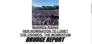 Drudge: Dem nomination is Warren's to lose