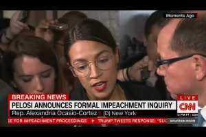 AOC impeachment support is over Trump's policies