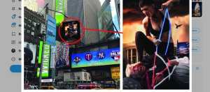 Times Square billboard shows Trump hogtied and shushed